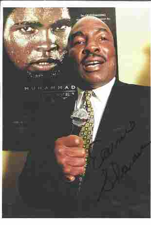 Boxing Earnie Shavers signed 12x8 colour photo. Earnie