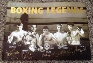 Boxing British Legends 16x12 montage signed photo