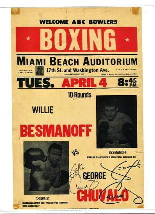 Boxing Fight poster featuring George Chuvalo. Good