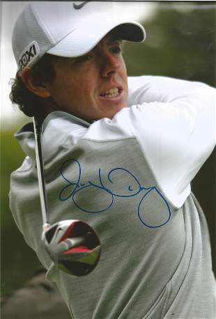 Golf Rory McIlroy signed 12x8 colour photo. Rory