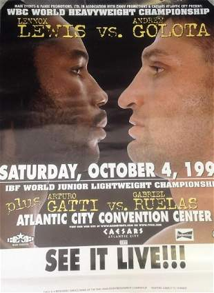 Boxing Poster 24x18 Lennox Lewis V Andrew Golota World