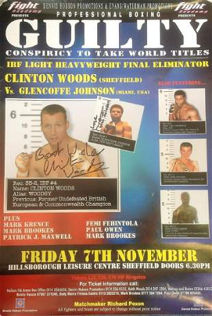 Boxing Clinton Woods and Glencoffe Johnson signed fight
