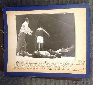 Boxing collection Vintage scrapbook includes 17