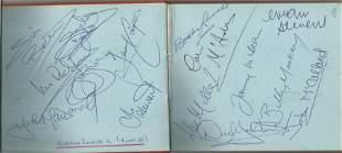 Football Collection vintage autograph album includes