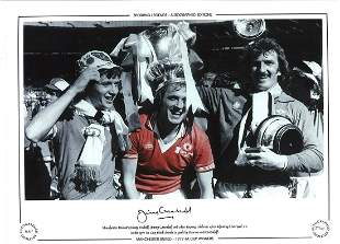 Football Jimmy Greenhoff signed 16x12 Manchester United