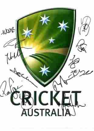 Cricket Australia multi signed 16x12 colour photo 11