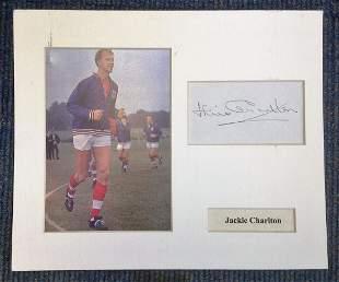 Football Jack Charlton 12x10 mounted signature piece