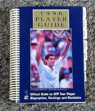 Tennis 1996 player guide Official Guide to ATP tour