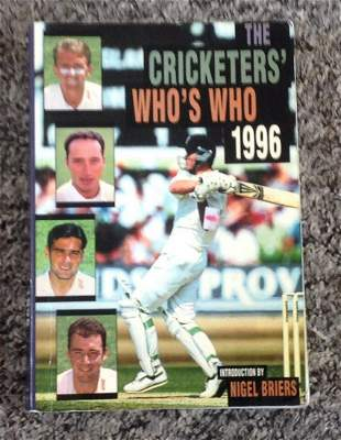 Cricket Whos Who 1996 book signed by 39 players and