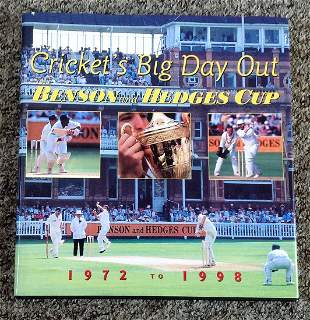 Cricket Big Day Out Benson and Hedges Cup Hardback book