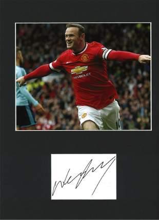Football Wayne Rooney 16x12 mounted signature piece