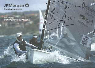 Olympics Sir Ben Ainslie signed 8x6 colour photo of the