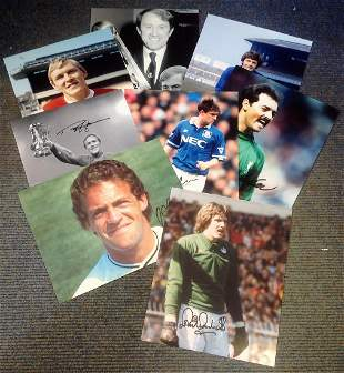Football legends collection 8 signed assorted photos