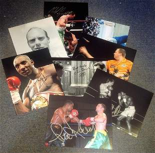Sport collection 8 signed assorted photos some great