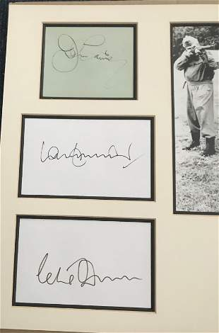 Dads Army multiple signed autograph display.