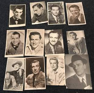 Vintage signed TV Film photo collection inc David Niven