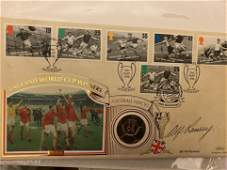 Sir Alf Ramsey signed 1966 World Cup Benham coin cover