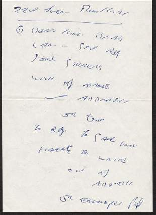 Ron Kray The Kray Twins Autograph hand written letter