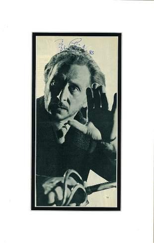 Peter Cushing autograph display (