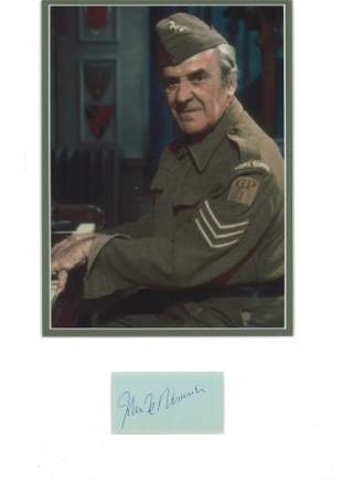 Dads Army John Le Mesurier autograph display