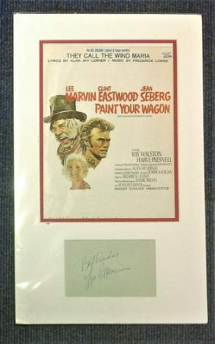 Lee Marvin autograph display (