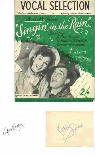 Gene Kelly and Debbie Reynolds autographs