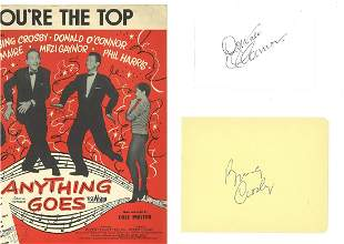 Bing Crosby and Donald O'Connor autographs