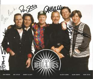 The Hollies Rock And Roll Hall Of Fame Band Signed