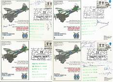 RAF Escaping Society signed collection. Four RAF Duke
