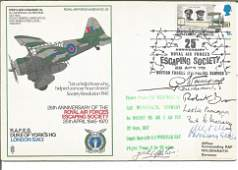 Rare WW2 SOE multiple signed cover. RAF Duke of Yorks