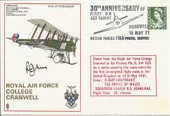 Prince Charles flight instructor Sqn Ldr R. E. Johns