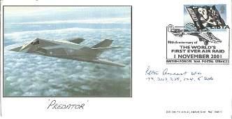 WW2 BOB fighter ace Peter Ayerst DFC signed Predator