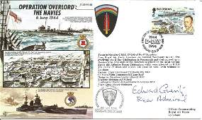 Rear Admiral Edward Gueritz signed Operation Overlord