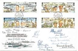 D-Day veterans multiple signed cover. John Mogg, Mervyn