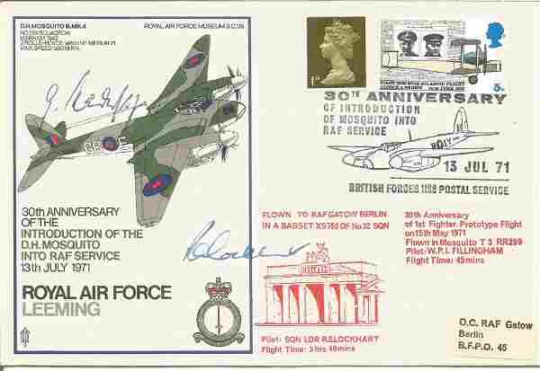 Gunther Radusch and Sqn Ldr R. E. Lockhart signed RAF