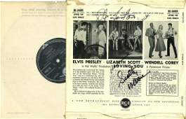 RARE An Elvis Presley Loving You vinyl record signed by