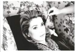 Catherine Deneuve signed 6x4 black and white photo.