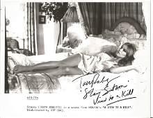 Tanya Roberts signed 10x8 black and white photo. Good