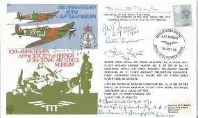 WW2 Multiple signed Battle of Britain aces 41st Ann RAF