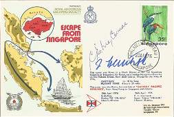 A Koehler and Sqn Ldr C E McCormack signed cover