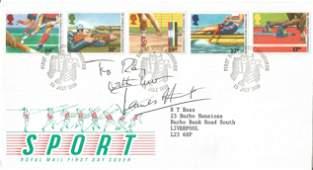 James Hunt signed Sport FDC. 15/7/1986 Edinburgh FDI