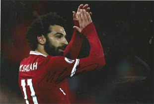 Football Mo Salah signed 12x8 colour photo pictured