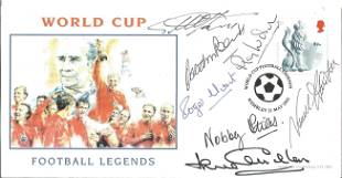 Football World Cup Legends multi signed FDC signatures