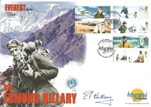 Sir Edmund Hilary signed Autograph Editions Everest FDC