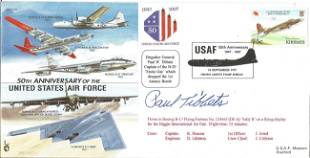 Brigadier General Paul Tibbets signed 50th Anniversary