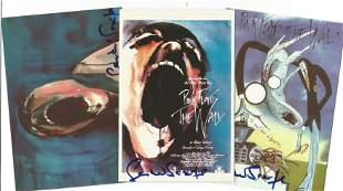 Pink Floyd collection 3 post cards signed by the artist