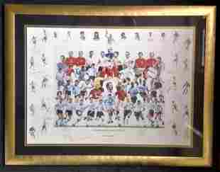 Football Legends of English Football multi signed 41x32