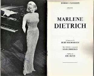 Marlene Dietrich signed Queens Theatre vintage