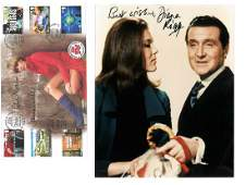Avengers collection includes Diana Rigg signed 10x8