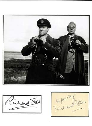 Dambusters Richard Todd and Michael Redgrave 14x13